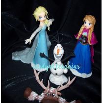 Adorno De Torta Frozen X 3 Piezas Porcelana Fria Sin Reno