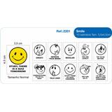 Carimbos Educativos Incentivos Smile Inglês Caixa 10 Und