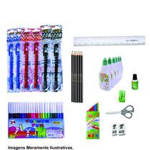 Kit De Material Escolar Com 21 Peças Volta As Aulas