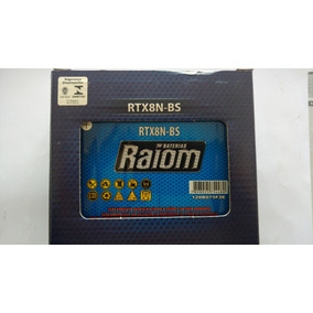 Bateria Raiom Rtx8n-bs - Yes125/katana125/intruder 125