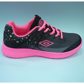 Zapatos Umbro Originales Para Damas - Um16510w Black Fucsia