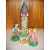 Adorno Para Torta En Porcelana Fría Rapunzel Enredados