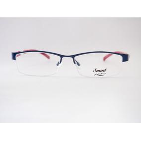 Armação Para Óculos Smart Retro Azul E Vermelha Fem M409 c679ace492