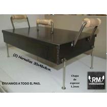 Churrasqueras Rm C/patas 48x30x8 Cm .cocineros Argentinos