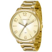 Relógio Lince Feminino Dourado Lrgj045l C2kx Original + Nf