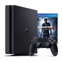 Playstation 4 Slim Sony 500gb Ps4 + Uncharted 4 Novo