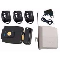 Kit Fechadura Elétrica Hdl Abre P/ Fora +controles +receptor
