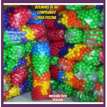 Bolinhas P/piscina De Bolinhas Cheias C/ar Comprimido Kit100