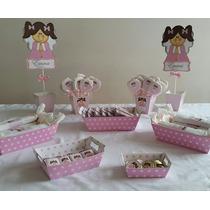 Candy Bar Bautismo!20 Nenes 100 Golosinas Más Bandejas