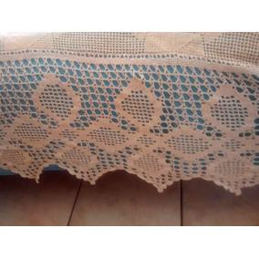 Colcha Croche Linda 2,65x2,50 Linda Barra Cama Queen