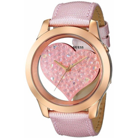 Reloj Guess Para Dama Estilo U0113l5 Pink And Rose Gold-tone