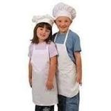 Delantales O El Gorro Tipo Hongo Infantil Mini Chef