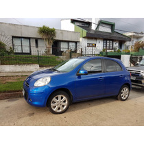 Nissan March Azul Electrico Extra Full Vendo O Perm X Bipper