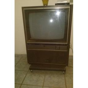 Tv Antiga Mitsubishi Eletric Tc 2604 Sd Com Movel Anos 80