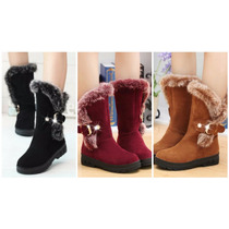 Botas Invierno Fashion Flats Snow Boots Casual Thicken Mujer