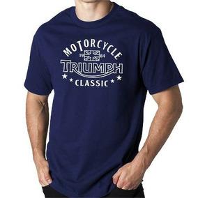 Camiseta Triumph Classic Motorcycle - 100% Algodão - Moto