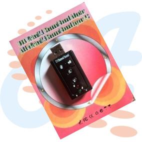 Tarjeta De Sonido Usb 7.1 3d Controles Volumen Plug & Play