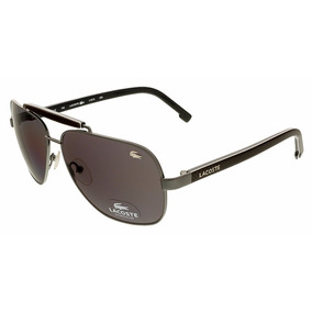 Lentes Lacoste L161s 59mm 033 Gunmetal Marrón Rectangular