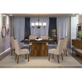 Jogo De Sala De Jantar Com 6 Cadeiras Dj Móveis