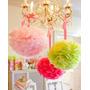 Decoracion Pompones-flores De Seda Casamientos,cumple 43 Cm