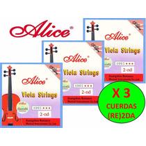 X 3 Cuerdas (re) 2da Para Viola Alice A903 Nuevas
