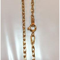 Cordão Corrente Cartier Cadeado De Ouro 18k 2mm 60cm