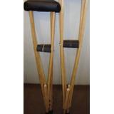 Muletas De Madera Ortopedicas Regulables Livianas Comodas