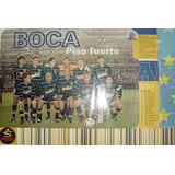 Poster Boca Juniors Pisa Fuerte Plantel Y Fixture Open Sport