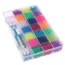 4200 Elásticos Fábrica De Pulseiras Rainbow Fun Com Caixa