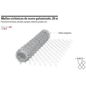 Malla Ciclonica De Acero Gal., Cal. 12.5, 20 M X 1.5 M