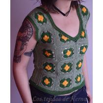 Musculosa/chaleco En Crochet - Tejido Artesanal - Verano