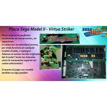 Placa Sega Virtua Striker Con Plotteado Original Y Backlight