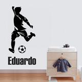 Adesivo Parede Quarto Infantil Jogo Futebol Bola + Nome 7c7678d5549a8