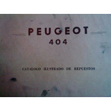 Catálogo-manual De Despiece 100% Original: Peugeot 404 1976