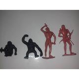 Homem Pre Historico Cavernas + 02 Macacos 4pç Idade Da Pedra