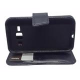 Capa Carteira Case Preta Samsung Galaxy J1 Ace J110