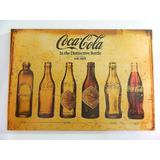 Placa Decorativa Mdf Retrô Vintage - Coca Cola Evolução