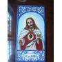Sagrado Corazón De Jesús Mayólica, Cerámica, Azulejo Pintado