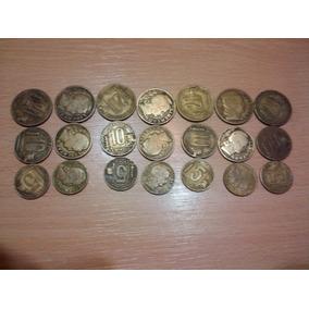21 Monedas De 5, 10 Y 20 Centavos Antiguas Nacionales