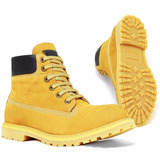 Coturno Bota Masculina Casual Adventure Couro Stilo Mc Guime