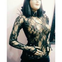 Blusa Encaje Goth Gotico Gothic Rock Punk