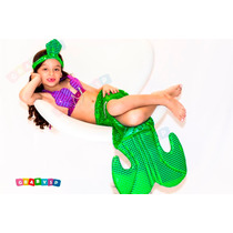 Fantasia Pequena Sereia Princesa Ariel Infantil Roupa Crianç