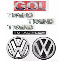 Kit Emblemas Gol G4 Trend 1.0 - Geração 4 - Modelo Original