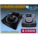 2 Platos Denon Dnsc-2900 Nuevos De Paquete Djs Club