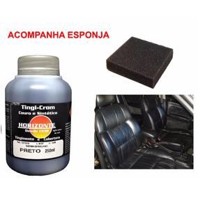 Tinta Preto P/ Couro Banco De Carro Automotivo Sofa 250ml