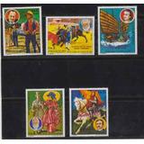 Paraguay 1977 Libros Y Trajes Tipicos Serie Completa P 1