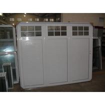 Porton De Aluminio Blanco Corredizo 240x200