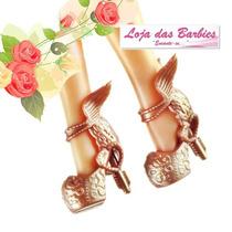 Sapato Luxo P/ Boneca Barbie * Sapatinho Crepúsculo Dourado