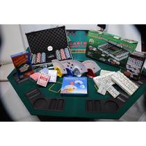 Mesa De Poker C/ Maletin De Poker 300 Fichas Y Domino Cubano