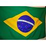 Bandeira Do Brasil Com Mastro 220cm Suporte Alumínio Parede